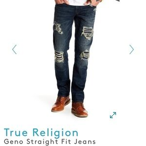 True Religion -  Geno Straight Fit Jeans